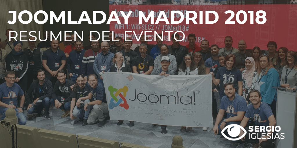Resumen en tweets del JoomlaDay Madrid 2018