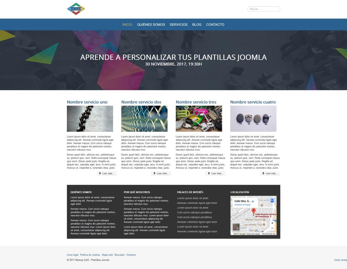 Moderno Joomla Plantillas Friso - Colección De Plantillas De ...