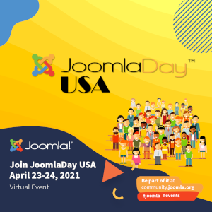 Joomla Day USA - Evento virtual sobre Joomla en el mes de Abril